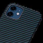 Pitaka MagEZ Twill Case кевларовий чохол для iPhone 12 mini Black/Blue, фото 2