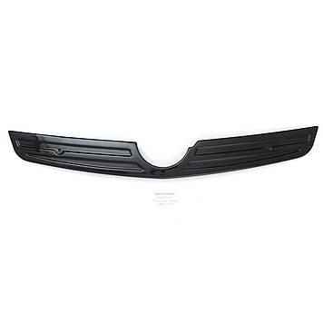 "Зимняя накладка Opel Vivaro 2006- Глянец Решетка (короткая до хрома) ""FLY"""