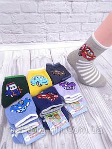 Махровые детские носки Микс машынки 12-14 (обувь 19-22)