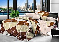 Евро комплект постельного белья 200*220 ЭКОНОМ (11249) Бязь хлопок_полиэстер