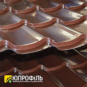 Металлочерепица RAL 817 (Коричневый) глянец 0.40 мм. купить Киев, фото 2