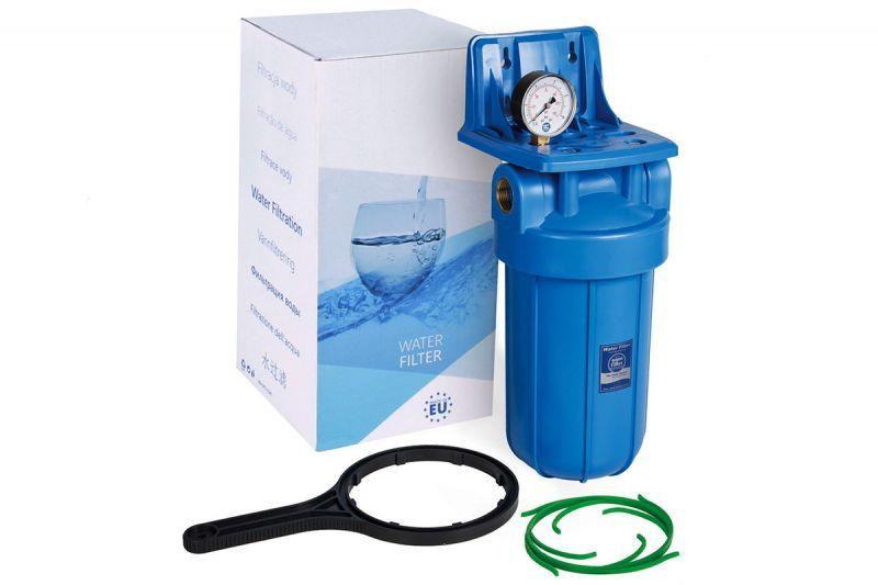 """Aquafilter Корпус фільтра Big Blue 10"""" з манометром FH10B1-B-WB"""