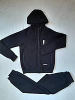 Мужской спортивный костюм тёплый PUMA чёрный