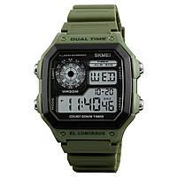 Skmei 1299 зеленые мужские спортивные часы, фото 1