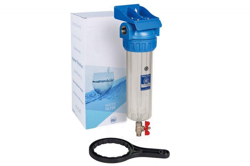 Aquafilter Корпус фільтра з спускним краном FHPR34-3V_R, комплект