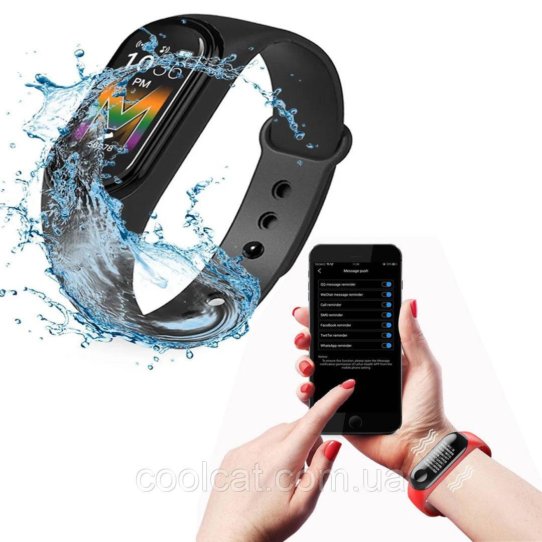 Фитнес браслет  + ПОДАРОК! Smart Band M5 Mi Band (Реплика) - Смарт часы