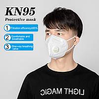 Респиратор многоразовый KN95 FFP2 с клапаном (медицинский)