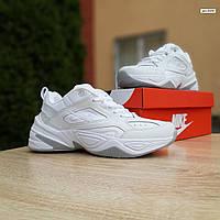 Женские кроссовки Nike M2K Tekno (белые) 20258 демисезонные низкие кожаные кроссы