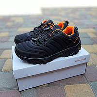Мужские зимние кроссовки Merrell Vibram (черно-оранжевые) спортивная термо обувь 3503