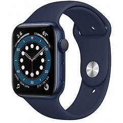 Apple Watch Series 6 GPS 44mm Blue Aluminium Case with Deep Navy Sport Band M00J3 US