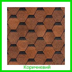Бітумна черепиця Docke серія Europa Karat коричнева
