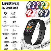 Фитнес браслет Mi Band M5 / Умные часы для спорта (Реплика) + Подарок Ремешок