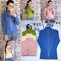 Женский модный свитер-водолазка