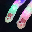 Шапка Пікачу кігурумі світиться з рухомими вушками зайка біла, фото 10