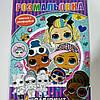 Раскраска детская А5 для девочек куклы ЛОЛ LOL белый фон лабиринт наклейки  RASK26л