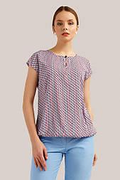Блуза на резинці Finn Flare S19-110124-310 без рукавів рожева