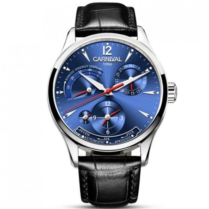 Мужские часы с автоподзаводом CARNIVAL KINETIC BLUE