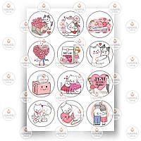 Печать съедобного фото - Вафельная бумага - День Святого Валентина №3