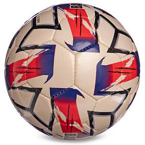 Мяч футбольный №5 CRYSTAL BALLONSTAR FB-2364 (№5, 5 сл., сшит вручную, белый-черный-красный), фото 2