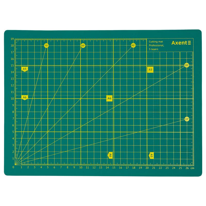 Килимок самовідновлювальний для різання Axent Pro 7907-A, А4, п'ятишаровий