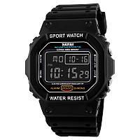 Skmei 1134 чорні з чорним екраном чоловічі спортивні годинник, фото 1