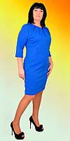 Женское платье с карманами и складками у горловины