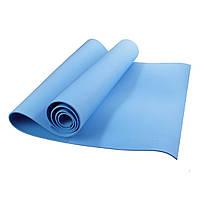 (GIPS), Коврик каремат для йоги в чехле (голубой)
