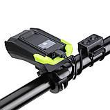 Велосипедный USB фонарь ZACRO + Пульт и Клаксон (800LM, IPX6, Аккумулятор 4000mAh, Дальний и Ближний свет), фото 4