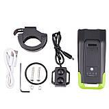 Велосипедный USB фонарь ZACRO + Пульт и Клаксон (800LM, IPX6, Аккумулятор 4000mAh, Дальний и Ближний свет), фото 10