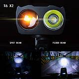 Велосипедный USB фонарь ZACRO + Пульт и Клаксон (800LM, IPX6, Аккумулятор 4000mAh, Дальний и Ближний свет), фото 6