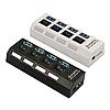 4-портовый USB 3.0 хаб с выключателями, до 5 Гбит/c. USB разветвитель с питанием. USB концентратор, фото 9
