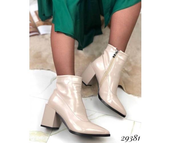 Ботильйони туфлі на стійкому каблуці