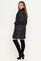 Куртка женская осенне-весенняя черная длинная модель 7311, фото 3