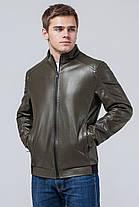 Легкая мужская куртка молодежная осенне-весенняя цвета хаки модель 1588, фото 3