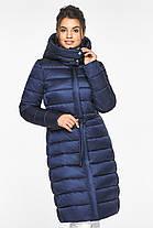 Женская куртка зимняя цвет синий бархат модель 44860, фото 2
