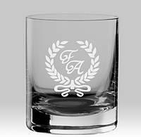 """Іменний стакан для віскі """"Ініціали з вензелями"""""""