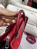 Жіноча сумочка комбінована нат.замша/кожзам 0230, фото 3