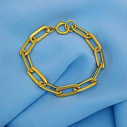 Дизайнерські браслет, Ланцюжок під PANDORY, р.19,5, без камінчиків, під золото