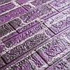 Декоративная 3D панель самоклейка под кирпич фиолетовый Екатеринославский 700x770x5мм, фото 4