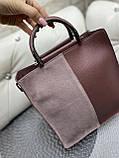 Женская сумочка комбинированная нат.замша/кожзам 0230, фото 2