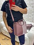 Жіноча сумочка комбінована нат.замша/кожзам 0230, фото 7