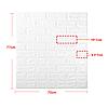 Декоративная 3D панель самоклейка под кирпич Желтый 700x770x5мм, фото 8
