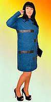 Модное батальное платье прямого кроя