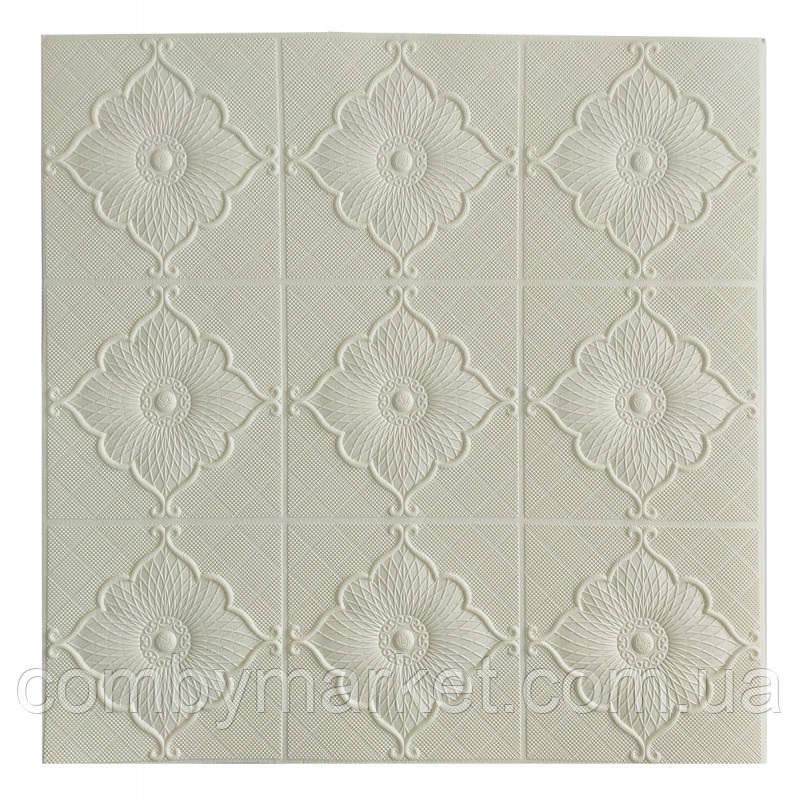 Самоклеющаяся декоративная потолочная 3D панель цветок 700x700x5.5мм