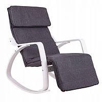 Крісло гойдалка Goodhome White 02, 120кг, фото 1