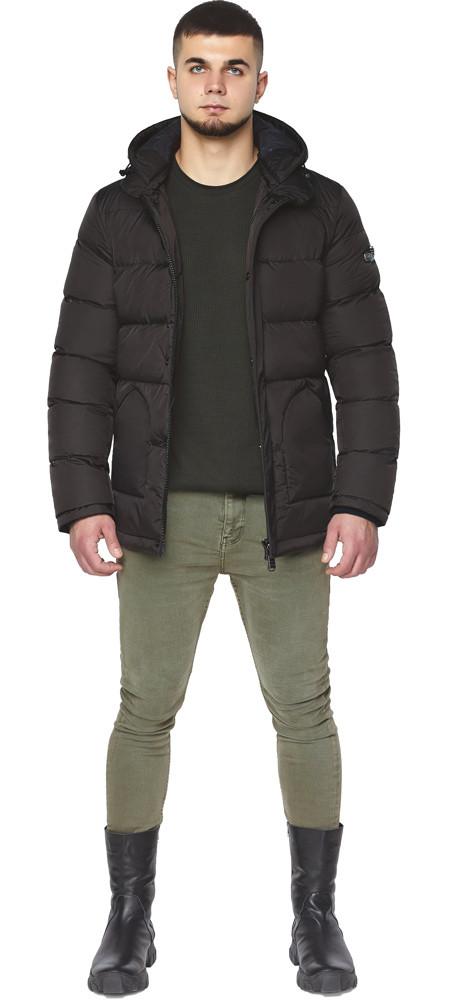 Мужская куртка цвета шоколада зимняя модель 27544