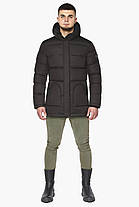 Мужская куртка цвета шоколада зимняя модель 27544, фото 3