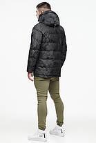 Темно-серая куртка с капюшоном зимняя для мужчин модель 25460, фото 3