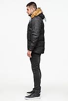 Черная зимняя мужская куртка с воротником модель 25310, фото 3