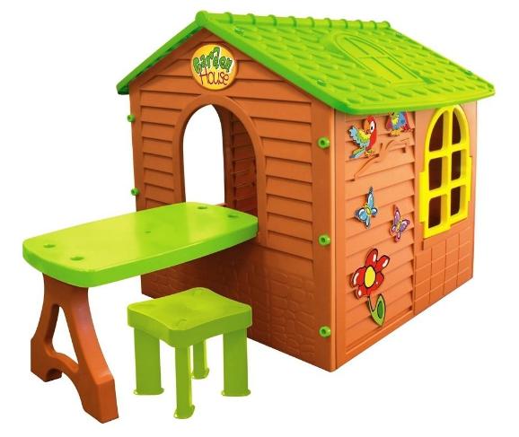 Дитячий ігровий будиночок Mochtoys + столик + стільчик 11045